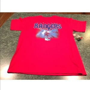 New York Rangers Red Rock Style T-Shirt Large NEW